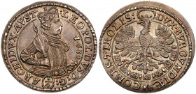 Austria, Holy Roman Empire, Archduke Leopold V (1619-1632). Silver ¼-Thaler, 1632, Hall Mint, crowned half length bust right, Rev. eagle, order...