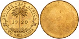 British West Africa, Kings Norton Mint. Uniface Tin-brass strikes of the Sixpence 1920 reverse (KM 11b); Shilling obverse (KM 12a); Two Shillings 1920...