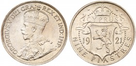 Cyprus, British Colony, George V (1910-36). Silver 9-Piastres, 1921, Royal Mint (KM 9). Extremely Fine. Estimate Value $650 - UP