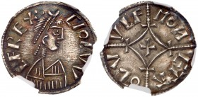 Ceolwulf II (874-880), Anglo-Saxon. Kings of Mercia. Silver Penny, 1.35g, moneyer Oswulf. Diademed and draped bust right; CIOLW LFREX, three pellets e...