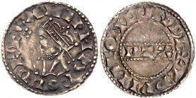 Harold II (6th Jan-14th Oct 1066). Silver Penny, London Mint, Moneyer Edwine, crowned bust left with sceptre, legend and beaded outer circle surroundi...