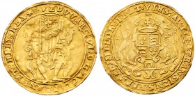 Edward VI (1547-53). Gold Sovereign, second period (Jan. 1549-Apr. 1550), struck in crown gold of 22 carat at twenty shillings face value, Southwark M...