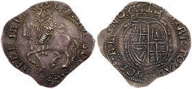Charles I (1625-49). Silver Halfcrown, Salopia Mint, Shrewsbury mint circa 1644, finer work armoured King on horseback left with raised sword, beaded ...