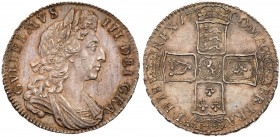 William III (1694-1702). Silver Halfcrown, 1700, first laureate and draped bust right, legend surrounding, GVLIELMVS. III. DEI. GRA., toothed border a...