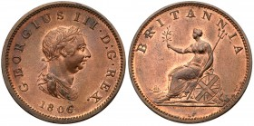 William III (1694-1702). Copper Halfpenny, 1697, type I, laureate and cuirassed bust right, Rev. Britannia left, date in exergue (Peck 647; S.3554). T...