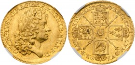 "George I (1714-27). Gold Guinea, 1714 ""Prince Elector"" type, first laureate head right, Latin legend and toothed border surrounding, GEORGIVS. D.G. MA..."