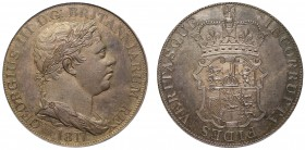 "George III (1760-1820). Pattern silver Crown, 1817, ""Incorrupta"" type design by William Wyon, laureate and draped bust right, small W. WYON: below to ..."