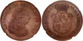 George III (1760-1820). Pattern copper Crown, 1798, struck W J Taylor after C H Kuchler, laureate and draped bust right, : C. H. K on truncation, Lati...