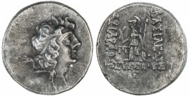 CAPPADOCIAN KINGDOM: Ariarathes IX Eusebes Philapator, 101-87 BC, AR drachm (4.02g), year 5, S-7297/99, young head of king // Athena standing, year be...