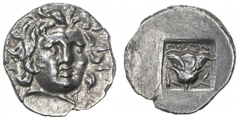 RHODES: Anonymous, ca. 125-88 BC, AR hemidrachm (1.28g), Rhodian-150, Gorgias, r...