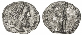 ROMAN EMPIRE: Pertinax, 193-193 AD, AR denarius (2.51g), Rome, S-6046, Providentia standing, his right hand pointing upwards to a star, some surface p...