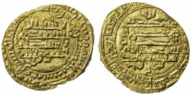 "TULUNID: Khumarawayh, 884-896, AV dinar (2.26g), al-Rafiqa, AH278, A-664.1, Bernardi-193Hn, bold date, but written with sittin for ""60"" instead of sab..."