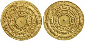 FATIMID: al-Mu'izz, 953-975, AV dinar (4.18g), Misr, AH362, A-697.1, Nicol-365, month of Muharram, choice EF.
