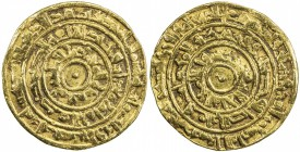 FATIMID: al-Mu'izz, 953-975, AV dinar (4.16g), Misr, AH363, A-697.1, Nicol-368, very slightly wavy surfaces, otherwise attractive, VF.