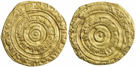 FATIMID: al-'Aziz, 975-996, AV dinar (4.02g), al-Mansuriya, AH384, A-703, Nicol-765, full strike, clear mint & date, slightly wavy surfaces, About VF,...