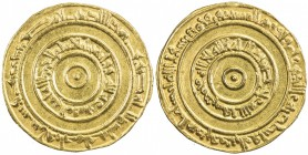 FATIMID: al-'Aziz, 975-996, AV dinar (4.18g), Misr, AH366, A-703, Nicol-700, bold strike, perfectly centered, EF-AU.