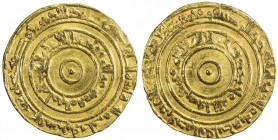 FATIMID: al-'Aziz, 975-996, AV dinar (4.14g), Misr, AH367, A-703, Nicol-701, full strike, VF.