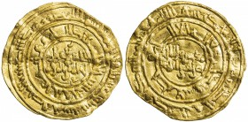 FATIMID: al-Zahir, 1021-1036, AV dinar (3.95g), al-Mansuriya, AH427, A-714.1, Nicol-1571, excellent strike, slightly wavy surfaces, VF, S. Nicol varie...