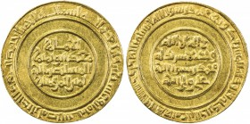 FATIMID: al-Mustansir, 1036-1094, AV dinar (4.09g), Misr, AH428, A-719.1, Nicol-2101, superb strike, perfectly centered, virtually UNC.