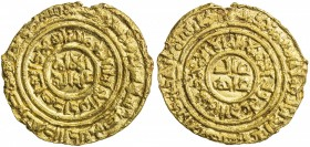 FATIMID: al-'Adid, 1160-1171, AV dinar (3.62g), Misr, AH557, A-744.1, Nicol-2962, somewhat crimped around the rim, VF, R.