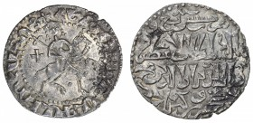 SELJUQ OF RUM: Kaykhusraw II, 1236-1245, AR bilingual tram (2.87g), Sis, AH639, A-1221, Izmirlier-430, also citing the Armenian king Hetoum I, small a...