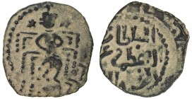 SELJUQ OF RUM: Kayka'us II, 2nd reign, 1257-1261, AE fals (2.77g), NM, ND, A-1231G, Izmirlier-654, enthroned emperor obverse, bold strike, VF, R.