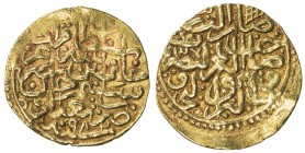 OTTOMAN EMPIRE: Murad III, 1574-1595, AV sultani (3.49g), Baghdad, AH982, A-1332.1, touch of uneven surfaces, VF-EF.