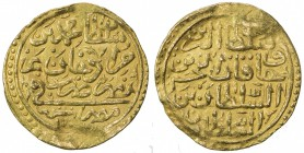 OTTOMAN EMPIRE: Mehmet III, 1595-1603, AV sultani (3.45g), Misr, AH1003, A-1340.2, slightly uneven surfaces, VF-EF.