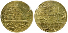 EGYPT: Abdul Hamid I, 1774-1789, AV zeri mahbub, Misr, AH1187, KM-126, initial #32, some weakness of strike (not noted on the slab, which also incorre...