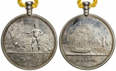 EGYPT: AR medal, loop attached (72.23g), 1801, Gordon-27, Vernon-491, 51mm; Presentation medal for the British & Indian troops who expelled the French...