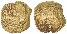 GREAT MONGOLS: Anonymous, ca. 620s-640s, AV dinar (3.39g), Samarqand, ND, A-B1967, totally anonymous, citing nobody, not even the caliph, likely struc...