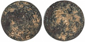 GREAT MONGOLS: Anonymous, ca. 1260s, AE dirham (6.25g), Bukhara, AH660, A-A1979.2, Arabic sikka / bukhara in obverse center, the Chinese name of the c...