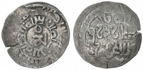 GREAT MONGOLS: Far Eastern series, ca. 1270s, AR dirham (1.97g), Khotan, ND, A-N1979, Tibetan mam in center, surrounded by two undeciphered Arabic mar...