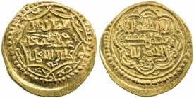 ILKHAN: Abu Sa'id, 1316-1335, AV dinar (4.95g), NM, ND, A-2212, type G, contemporary imitation, likely from Eastern Anatolia or the Caucasus, UNC, R. ...