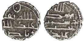 HABBARIDS OF SIND: 'Abd Allah I, fl. 883-884, AR damma (0.56g), NM, ND, A-1495D, obverse begins with billah thiqqa followed by the name 'Abd Allah, re...