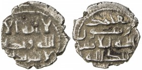HABBARIDS OF SIND: 'Abd Allah II, early to mid 900s, AR damma (0.62g), NM, ND, A-A1502, full kalima, divided between obverse & reverse, with the name ...