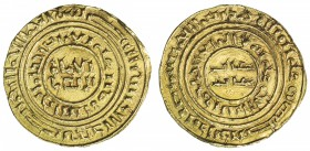 CRUSADER KINGDOMS: Anonymous, ca. 1160-1200, AV bezant (3.62g), A-730, Ma-4., completely blundered mint and date based on type of al-Amir, EF. Crusade...