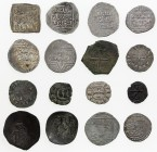 CRUSADER KINGDOMS: LOT of 16 pieces of the Crusaders and related items, silver unless noted: Christian Spain (millares, A-498); Tripoli (imitation of ...