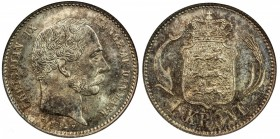 DENMARK: Christian IX, 1863-1906, AR krone, 1892, KM-797.1, a fantastic example! NGC graded MS67.