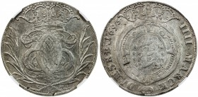 GLÜCKSTADT: Christian V, 1670-1699, AR krone, 1693, Dav-3679, NGC graded AU53. Glückstadt remained a possession of the Danish Crown until its defeat i...