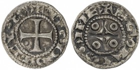 FRANCE: Louis IV, 936-954, AR denier (0.99g), ND, Rob-1804, Angouleme Mint, variety with horizontal S's, F-VF.