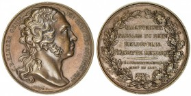 FRANCE: AE medal (35.67g), 1800, Bramsen-54, 40mm, bust of General J.B. Kleber right, signed by Caqué F. // MAESTRICHT. / PASSAGE DU RHIN. / HELIOPOLI...
