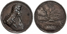 BAVARIA: Maximilian II Emanuel, 1679-1726, AE medal, 1688, Montenuovo-1075, Wittelsbach-1499, 42mm, The Siege and Liberation of Belgrade, bronze medal...