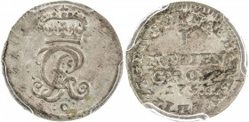 BRUNSWICK-CALENBERG-HANNOVER: AR mariengroschen, 1751-C, KM-260, struck in Celle, PCGS graded MS64, ex Don Erickson Collection.