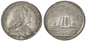 FRANKFURT: Free Imperial City, AR 2 ducat (4.58g), 1742, KM-Pn26, off-metal strike in silver, for the election at Frankfurt of Karl VII of Bavaria as ...
