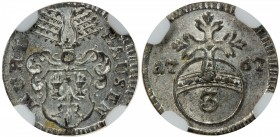 MÜHLHAUSEN: Free Imperial City, AR 3 pfennig, 1767, KM-56.1, NGC graded MS65, ex Ernst Otto Horn. Finest graded by NGC.