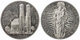 "MUNICH: AR medal (29.23g), 1894, Hauser-799, Gebhardt-205, 38mm silver medal for the 400th Anniversary of the Women's Church (""The Dom"") by Alois Börs..."