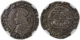 ENGLAND: Charles II, 1660-1685, AR twopence, London mint, ND, KM-399, Bull-327, ESC-2165, Third issue, struck 1660-1662, crowned bust left, II in righ...