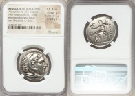 MACEDONIAN KINGDOM. Alexander III the Great (336-323 BC). AR tetradrachm (27mm, 17.27 gm, 5h). NGC Choice XF S 5/5 - 5/5, Fine Style. Posthumous issue...