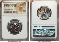 MACEDONIAN KINGDOM. Alexander III the Great (336-323 BC). AR tetradrachm (27mm, 17.19 gm, 6h). NGC Choice XF 5/5 - 3/5. Early posthumous issue of Myri...